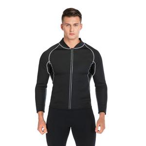 Men Shaper Exercise Sweat Shirt Sauna Neoprene Slimming Fitness Jacket Gym Wear for Core Muscle Training Sauna Suits