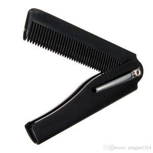 Hot Fashion Mens Womens Handmade Folding Pocket Clip Hair Mustache Beard Comb 2pcs / lot envío gratis