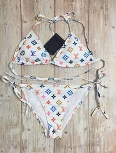 2020 venta caliente nueva moda cruz carta honda impresión Diseño L1 baño bikini para las mujeres Traje de baño atractivo de baño de una sola pieza traje S-XL