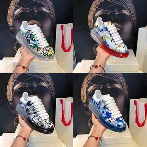 2020 Luxus Transparent Schuhe Latex Vakuum Verbesserte Ausgabe Explosive Fashion Thick-soled Designer Schuhe Kissen Kristall Bottom Freizeitschuh