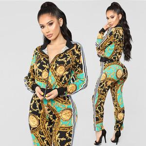 traje directa de fábrica de la venta caliente 2019 otoño Europea y el deporte casuales de la moda de ropa de las mujeres americanas de dos piezas