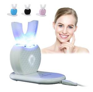 Forma de U de 360 grados Cepillo de dientes eléctrico por ultrasonidos Carga inalámbrica Manos libres con dientes Cepillo de dientes Limpiar Masaje Blanqueamiento