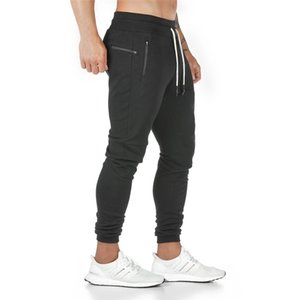 Joggers Sweatpants Mens Slim Casual Pants Solid Color Gyms Workout Cotton Sportswear Autumn Male Fitness Crossfit Track Pants 200925