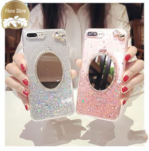Miroir Couverture de protection Téléphone Back Case Bling Mirror Case TPU Cas de téléphone protecteur pour iPhone 7 8plus xr x max 11 Pro