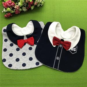 Baby-Lätzchen Drooler Cotton Bow Wasserdicht Zahnen Lätzchen Spucktücher Feeding Drooling Reversible Baby Einstellbare Snaps Krawatte