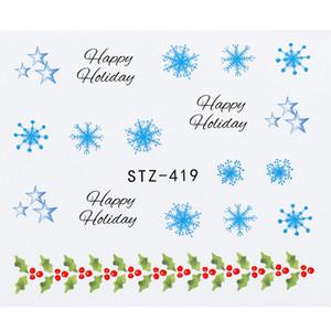 Christmas For Schneeflocken-Aufkleber-Reihe Slider Wassertransfer Aufkleber Aufkleber Nail Dekorative Maniküre-Kunst-Abziehbild-Aufkleber