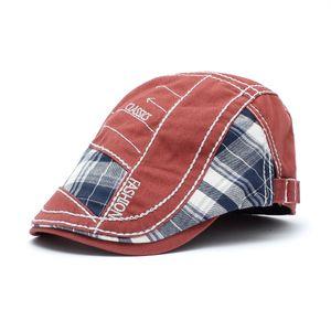 Gorra de visera personalizada para hombres Fábrica al por mayor Ajustable Moda hiedra gorra boina Sombrero de sol al aire libre