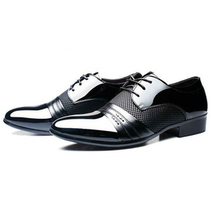 Scarpe Studio Autunno Uomini abito classico scarpe Oxford Business Lace Up Maschio traspirante, scarpe Plus Size 38-47 Zapatos Hombre