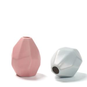 Керамическая ваза сухой цветок Творческий Простые украшения бытовые украшения Европейский Геометрическая Shaped гравированные бутылки высокого качества EEA1409