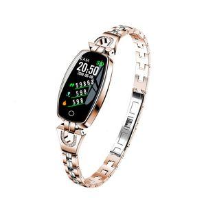 H8 Akıllı İzle Kadınlar Lady Tansiyon İzle Nabız Aktivite Spor Tracker Akıllı Bilezik IP67 su geçirmez Smartwatches