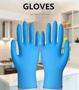Free ship 100pcs lot Disposable nitrile gloves Gloves resistance to oil acid alkali anti bacteria Kitchen Dishwashing Work glove