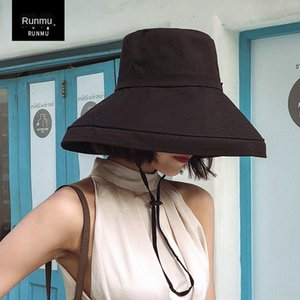Runzhen 19 Doğu Kapısı pamuk balıkçı kadın Kepçe miğfer siperliği miğfer kadın şapka şemsiye şapka çocuk dikiş güneşten gelen rüzgar