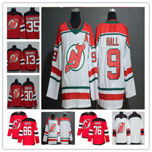 2019 New Jersey Devils Hockey Jack Hughes P.K. Subban Taylor Hall Nico Hischier Martin Brodeur Cory Schneider Greene Maglie alternative a buon mercato