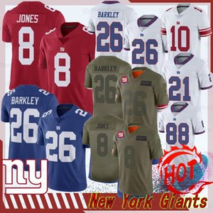 26 Saquon Barkley New Jersey York 8 Daniel Jones géant Jersey 10 Eli Manning 88 Evan Engram 2020 New Jersey 21 Football Collins