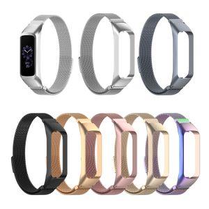 SM-R375를위한 Samsung Galaxy Fit-e 똑똑한 시계 보충 악대 부속품을위한 Milanese 루프 팔찌 스테인리스 시계 밴드