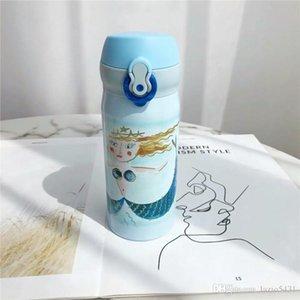 Yeni Starbucks termos Mermaid tanrıça paslanmaz çelik vakum bardak nattier mavi Tumbler out dooor spor kahve fincanı 350 ml