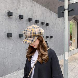 Восьмиклинка Для Женщин Осень-Зима восьмиугольная художник шапки шляпы для женщин мужчин берет шляпу женщины мужчины старинные крышка