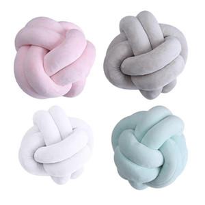 Kreative 18cm geknotete Ballkissen Dekokissen Taille Rückenkissen Startseite Schlafsofa Dekor Puppen Spielzeug für Kinder