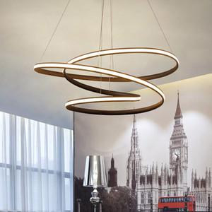 Modern LED Pingente luzes lustre lâmpada para sala de jantar sala de estar lampadario moderno Lustre Lustre Iluminação AC85-265V