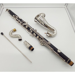 Buffet Bass Clarinet Professional Bb Clarinet Drop B Tuning Black Tube Clarinet Silvering Keys klarnet Brand Musical Instrument
