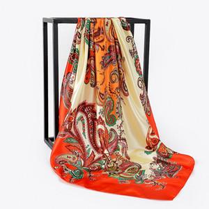 2020 봄 럭셔리 여성 문자 패턴 스카프 디자이너 스카프 최고 품질 긴 폴리 에스테르 숄 공장 직접 판매 FJ135