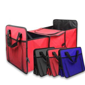 Складная Автомобиль хранение сумка несколько отсеков для автомобилей Грузовик Организатор Ткань автомобили хранение корзина Контейнер с Cooler и изоляции XD19989