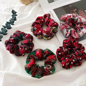 INS femmes de Noël chouchous rouges filles scrunchies mignons enfants Bandeaux filles cravates cheveux accessoires pour cheveux pour les femmes tête des bandes A8494