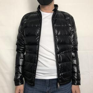 hommes veste vers le bas mince hommes l'hiver Parkas homme Arc poche duvet de canard blanc manteaux Veste noire hommes vers le bas homme S-XXL (UK S = CN L)