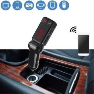 100 PCS / شاحن الكثير بلوتوث سيارة وزير الخارجية الارسال الأيدي بلوتوث السيارات مجانا كيت MP3 مشغل الصوت اللاسلكية المغير USB BC06 للهاتف المحمول