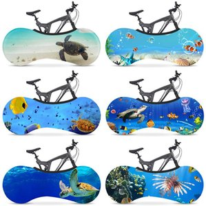 Bicycle Wheel Cover Dustproof Indoor Bike Cover Bike Dust Covers Cycling Bike Scratch Proof Cover Sports Sky 57 Designs 10pcs DW5404