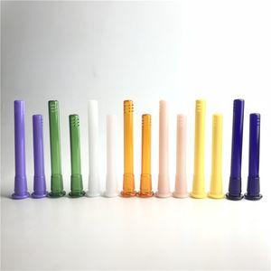 Пластиковые downstem диффузор с 18 мм до 14 мм Мужской Женский Красочные стекла Бонг Adater вниз Стволовые для курительных трубок из стекла Бонг Вода