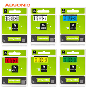 Stampante forniture Nastri absonic 12 millimetri Dymo D1 Nastro Label Printer nastro compatibile 45013 45010 45017 45018 per DYMO Label Maker LabelMana ...