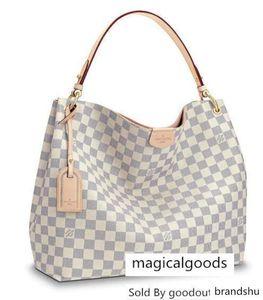 Graceful Mm N42233 neue Frauen arbeiten Shows Schultertasche Totes Handtaschen Top-Griffe Cross Body Messenger Bags