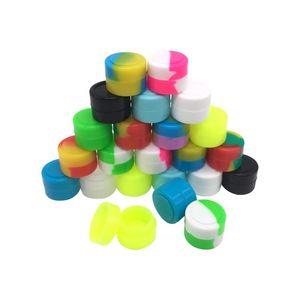 Рекламный силиконовый воск Dab Контейнер для сыпучих материалов Антипригарное покрытие с антипригарным покрытием 2 мл смешанного цвета