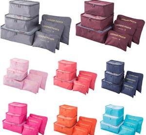 Travel makeup bag Home Luggage Storage Clothes Storage Organizer Portable Cosmetic Bags Bra Underwear Pouch Storage Bags 6pcs Set