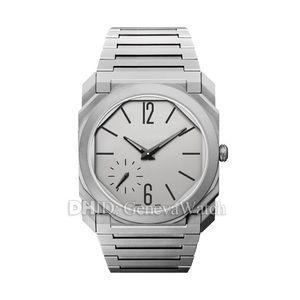 Montre de mode OCTO mécanique mouvement automatique 102711 BGO40C14TLXTAUTO 41mm boîtier en acier Mens Designer Watches Montre étanche de luxe