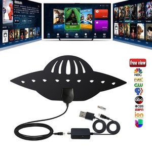 100 Mile Indoor 1080P HD Digital TV Antenna Ultra Thin UFO Design HDTV Aerial 25dBi High Gain TV Antennas with Amplifier