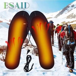 BSAID Kadın Erkek USB Isıtmalı Astarı Ayakkabı Kadın Sıcak Ayak Pedleri Kış Tabanlık Ayarlanabilir Uzunluk Elektrikli Isıtma Ayakkab ...