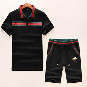 Mens New Marque Designer Sets T-shirt et pantalon hommes courtes en coton Survêtement Femmes d'été Costume court Sport Costume Set 2Pcs s-3XL