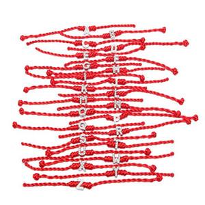 Lettres De Cristal Charmes Avec Corde Rouge Lucky Bracelets pour Femmes Cordon Cordeau Ligne À La Main Bijoux Pour Couple De Noël