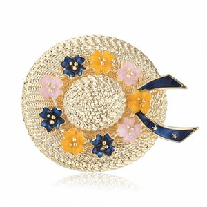 Rhinestone Hat Brooches For Women Vintage Gold Color Brooches Wedding Corsage Gift Fashion Jewelry Pins Gift