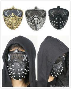 Punk diable cos Ghost Mask Cartoon Chien de garde Step Street Dance Mort / Punk Willow Party Mask Nail Supplies A298
