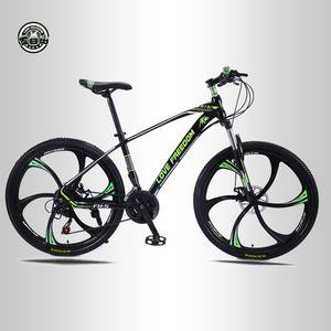 الحب الحرية 21 سرعة الدراجة الجبلية 26 بوصة عالية الكربون الصلب الفرامل المزدوجة أسطوانة واحد عجلة سرعة التثبيط رجل إمرأة طالب دراجات