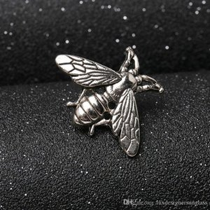 Vintage Bee Brooch Women Men Metal Insect Bee Brooch Suit Lapel Pin Shirt Accessories Wholesale Epacket Shipping