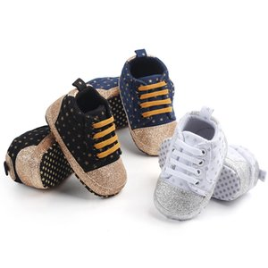 New Baby Canvas Classic Sports Sneakers Newborn Baby Boy Girl Print Star First Walkers Shoes Infant Toddler Anti-slip Shoes