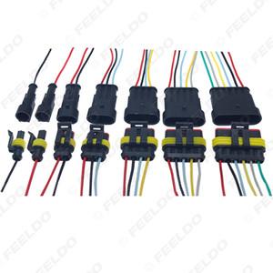 Auto Car impermeabile Adattatore Socket elettrica Connettore cablaggio del motociclo AWG HID Pin Way 3/4/5/6 # 6123