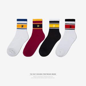 INF мужская весна новый тренд полосатые носки на горных велосипедах спортивные дышащие носки уличные дикие мода хлопок ходьба casua