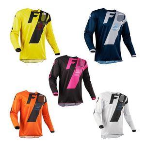 Motokros Yarışı Erkekler S T -Shirt Kapalı -Yol Jersey Fox Hızlı KURUTMA FIRINI Uzun Kollu