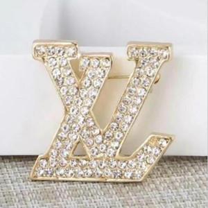 2020 Luxury Designer Spilla squisita lettera Spilla per le donne Dichiarazione modo di marca Spille Pins Gioielleria regalo