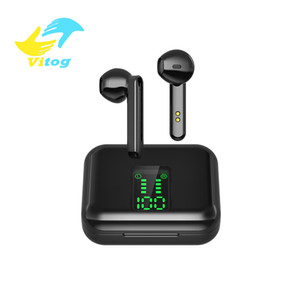 Vitog X15 TWS 5.0 Wireless Earphone With Mic LED Display Bluetooth Earphones sport Gaming Headset Earbuds for Xiaomi headphones